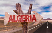 Algeria wooden sign — Stock Photo