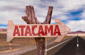 Atacama wooden sign — Stock Photo