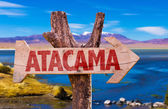 Atacama wooden wooden sign — Stock Photo