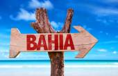 Bahia wooden sign — Stock Photo