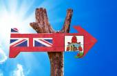 Bermuda Flag wooden sign — Stock Photo