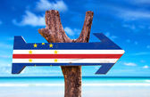 Cape Verde Flag wooden sign — Stock Photo