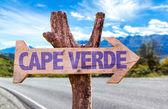 Cape Verde wooden sign — Stock Photo