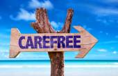 Carefree wooden sign — Stock Photo