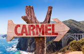 Carmel wooden sign — Stock Photo