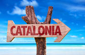 Catalonia wooden sign — Stock Photo