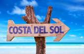 Costa Del Sol wooden sign — Stock Photo