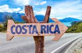 Costa Rica wooden sign — Stock Photo