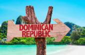 Dominican Republic wooden sign — Stock Photo