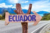 Ecuador wooden sign — Stock Photo