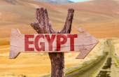 Egypt wooden sign — Stock Photo