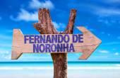 Fernando de Noronha wooden sign — Stock Photo
