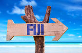 Fiji wooden sign — Stock Photo