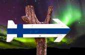 Finland flag wooden sign — Stock Photo