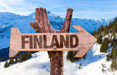 Finland wooden sign — Stock Photo