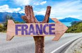 France wooden sign — Stock Photo