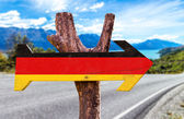 Germany Flag wooden sign — Stock Photo