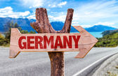 Germany wooden sign — Stock Photo