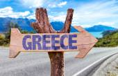 Greece wooden sign — Stock Photo