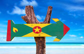Grenada Flag wooden sign — Stock Photo