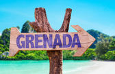 Grenada wooden sign — Stock Photo