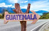 Guatemala wooden sign — Stock Photo