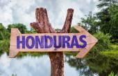 Honduras wooden sign — Stock Photo