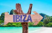 Ibiza wooden sign — Stock Photo