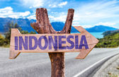 Indonesia wooden sign — Stock Photo