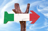 Italy flag wooden sign — Stock Photo