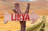 Libya wooden sign — Stock Photo