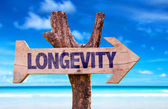 Longevity wooden sign — Stock Photo