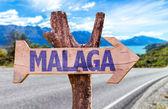 Malaga wooden sign — Stock Photo