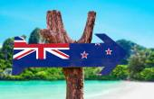 New Zealand Flag sign — Stock Photo
