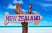 New Zealand  wooden sign — Stock Photo