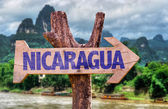 Nicaragua wooden sign — Stock Photo