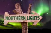 Northern Lights sign — Stock Photo