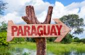 Paraguay wooden sign — Stock Photo