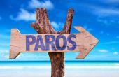 Paros wooden sign — Stock Photo