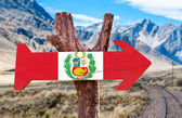 Peru wooden sign — Stock Photo