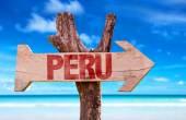 Peru wooden sign