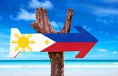 Philippines Flag wooden sign — Stock Photo