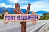Port Elizabeth wooden sign — Stock Photo
