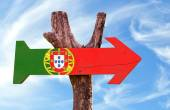 Portugal Flag wooden sign — Stock Photo