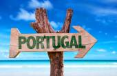 Portugal wooden sign — Stock Photo
