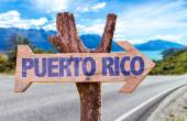 Puerto Rico wooden sign — Stock Photo