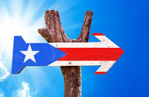 Puerto Rico Flag sign — Stock Photo