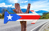 Puerto Rico Flag wooden sign — Stock Photo