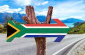 South Africa Flag sign — Stock Photo