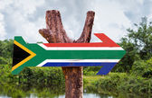 South Africa Flag wooden sign — 图库照片